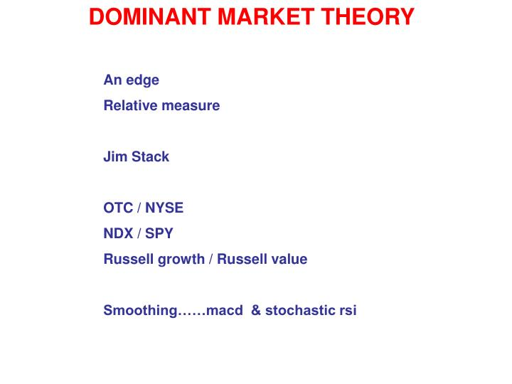 DOMINANT MARKET THEORY