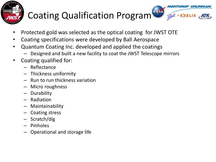 Coating Qualification Program