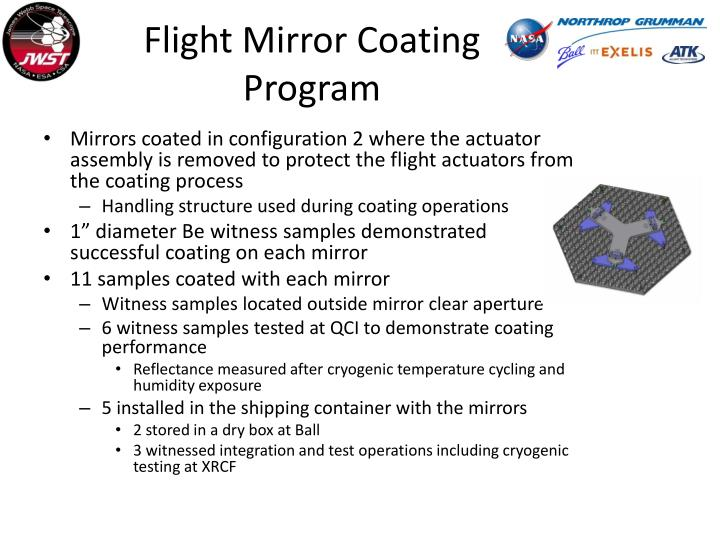 Flight Mirror Coating Program