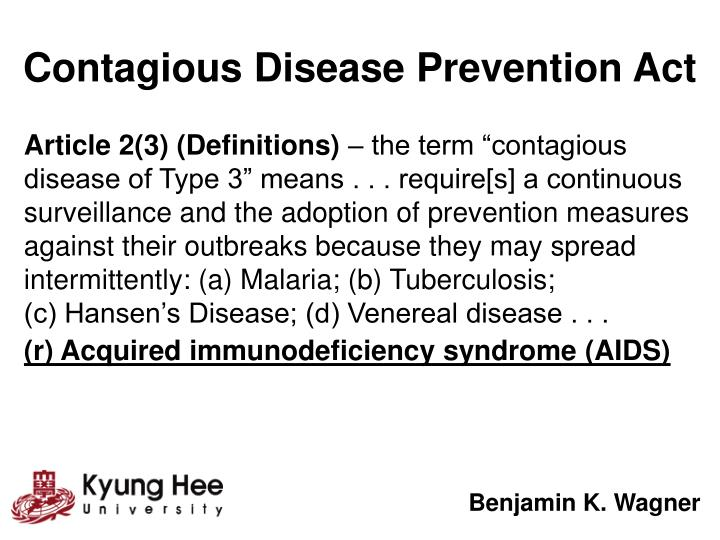 Contagious Disease Prevention Act