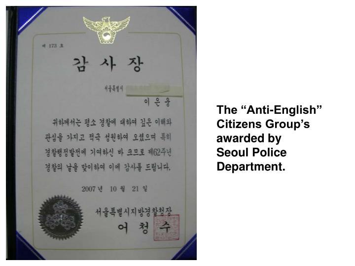 """The """"Anti-English"""""""