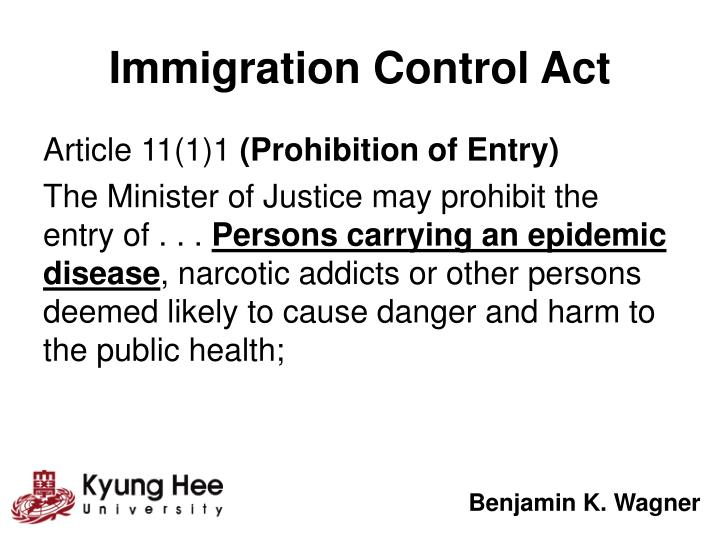Immigration Control Act