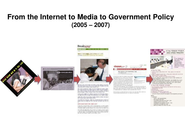 From the Internet to Media to Government Policy