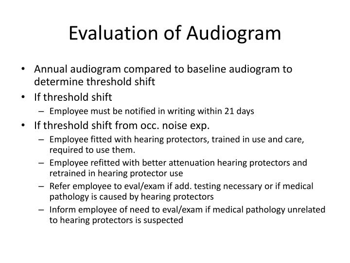 Evaluation of Audiogram