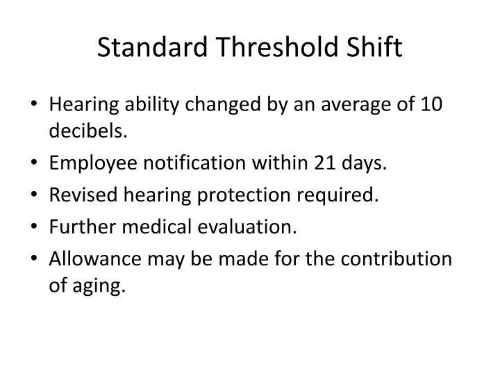 Standard Threshold Shift