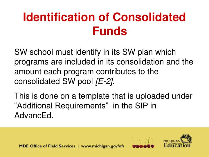 Identification of Consolidated Funds