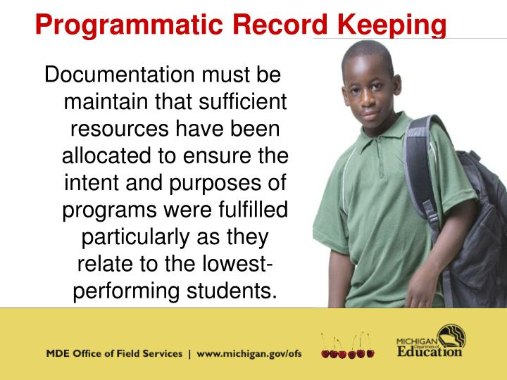 Programmatic Record Keeping