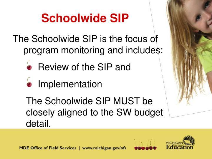 Schoolwide SIP