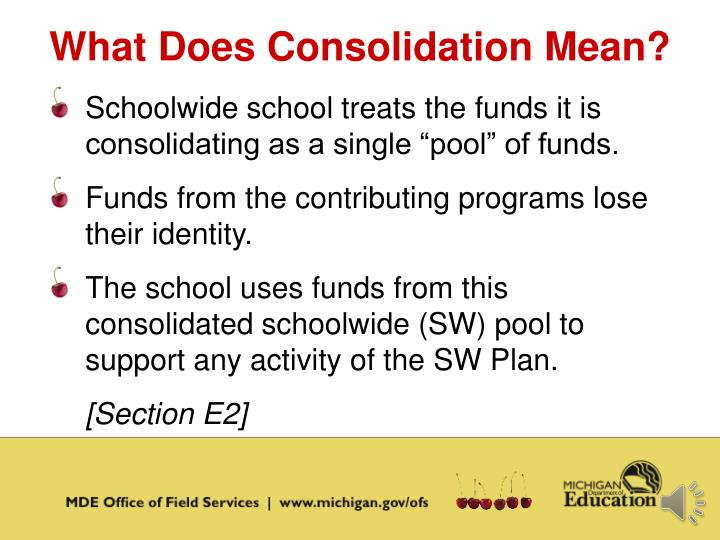 What Does Consolidation Mean?