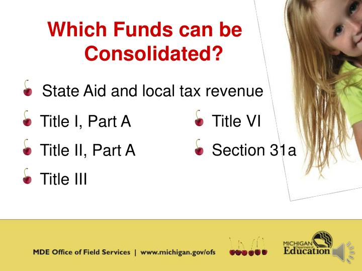 Which Funds can be Consolidated?