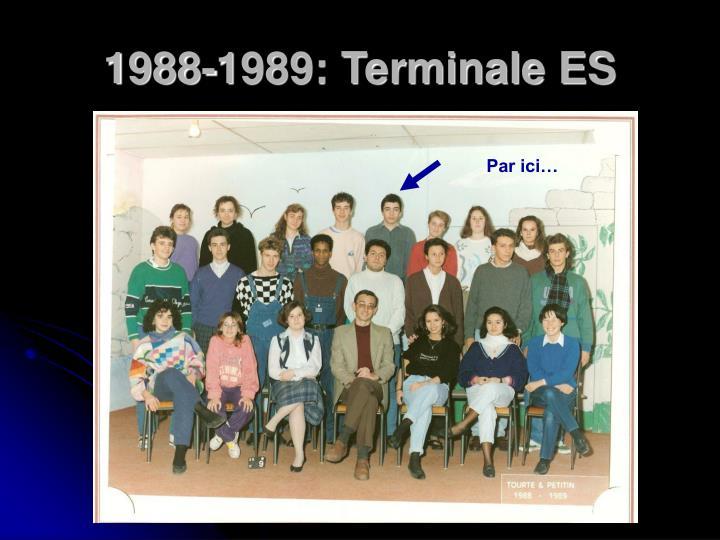 1988-1989: Terminale ES