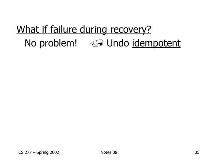What if failure during recovery?