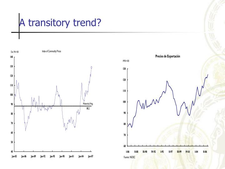 A transitory trend?