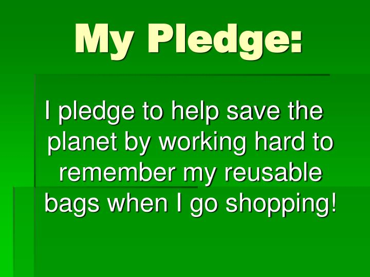 My Pledge: