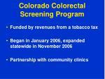 colorado colorectal screening program1