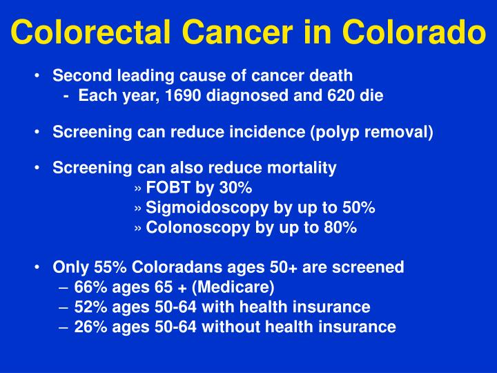 Colorectal Cancer in Colorado