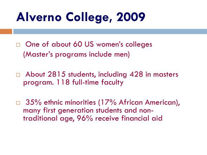 Alverno College, 2009
