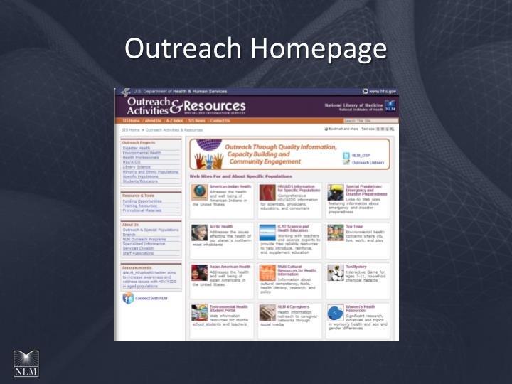 Outreach Homepage