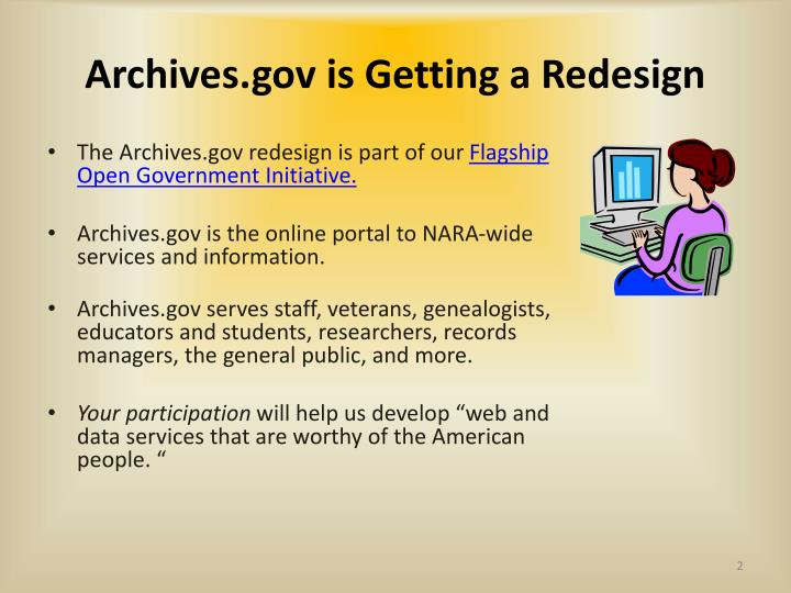 Archives gov is getting a redesign