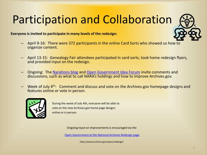 Participation and Collaboration