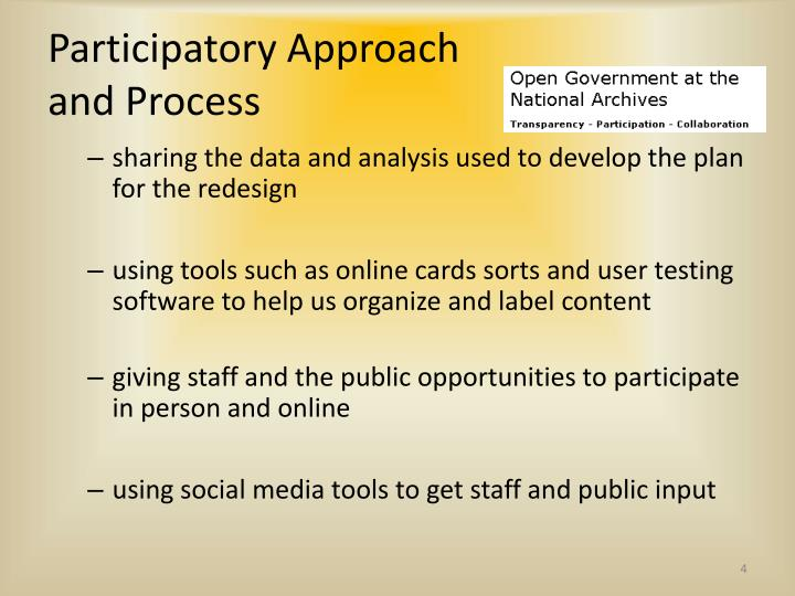 Participatory Approach