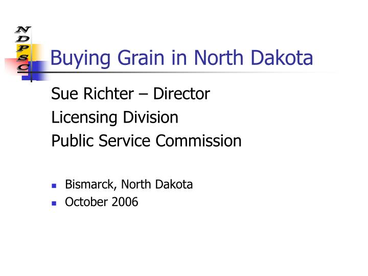 Buying Grain in North Dakota