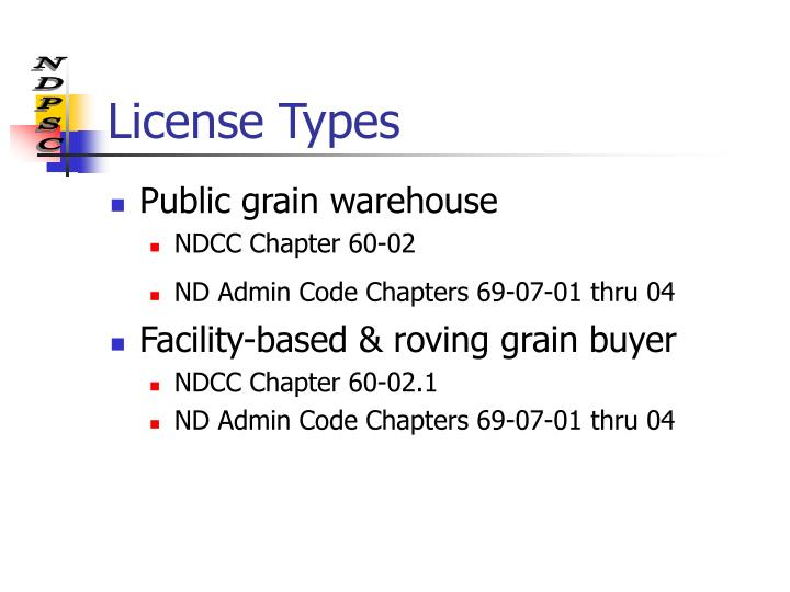 License Types