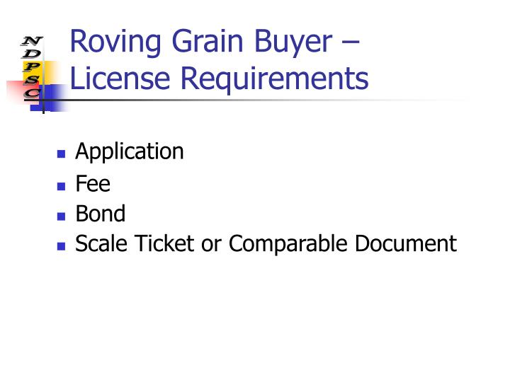 Roving Grain Buyer –