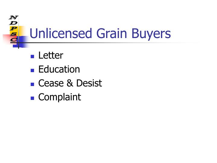 Unlicensed Grain Buyers