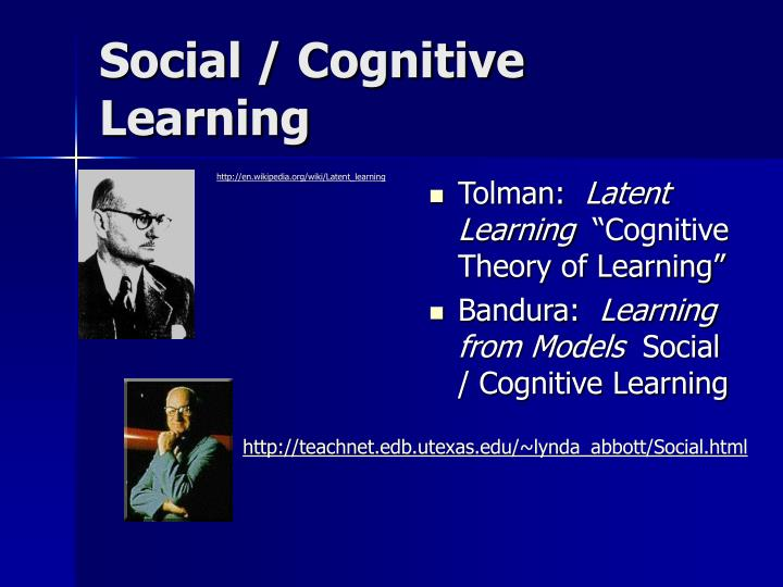 Social / Cognitive Learning