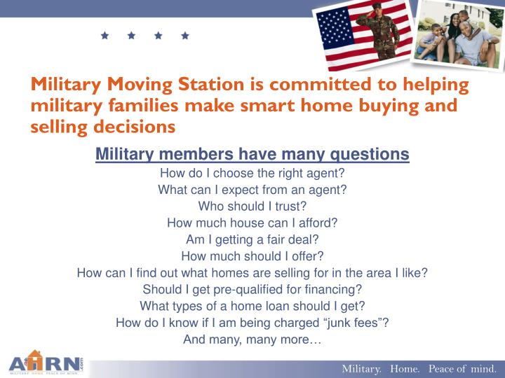 Military Moving Station is committed to helping military families make smart home buying and selling decisions