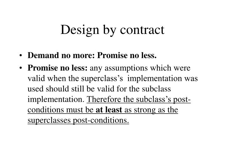 Design by contract