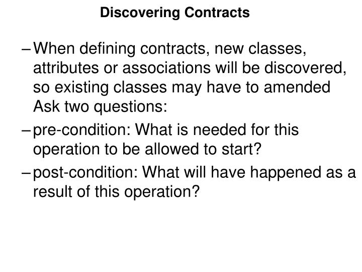 Discovering Contracts