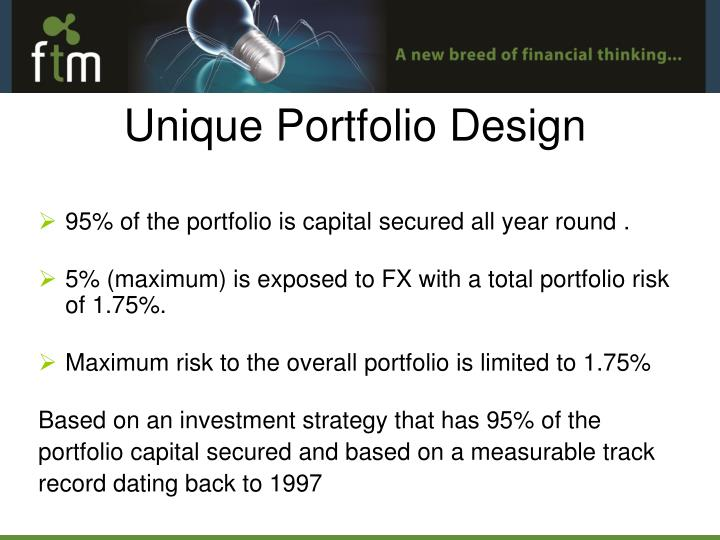95% of the portfolio is capital secured all year round