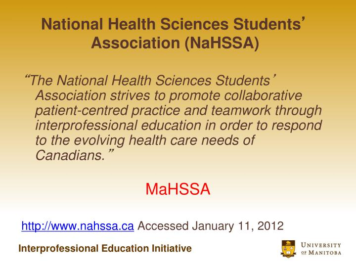 National Health Sciences Students