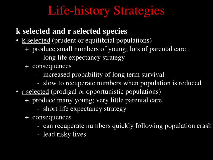 Life-history Strategies