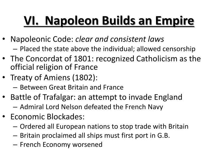 VI.  Napoleon Builds an Empire