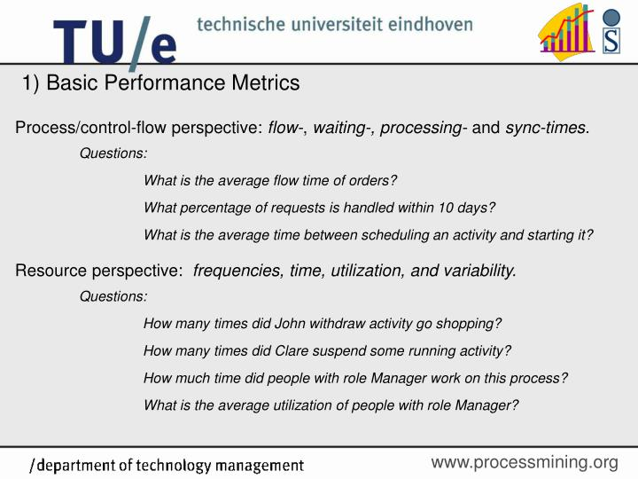 1) Basic Performance Metrics
