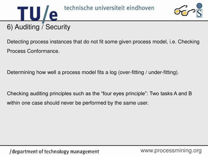 6) Auditing / Security
