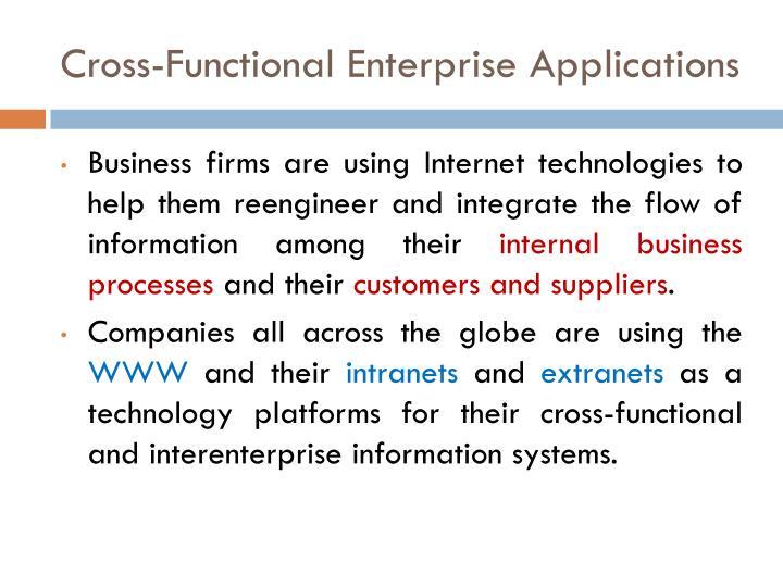 Cross-Functional Enterprise Applications