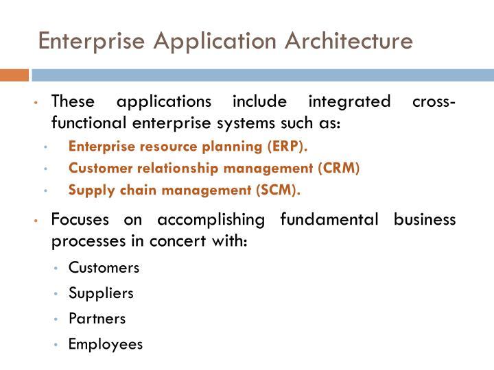 Enterprise Application Architecture