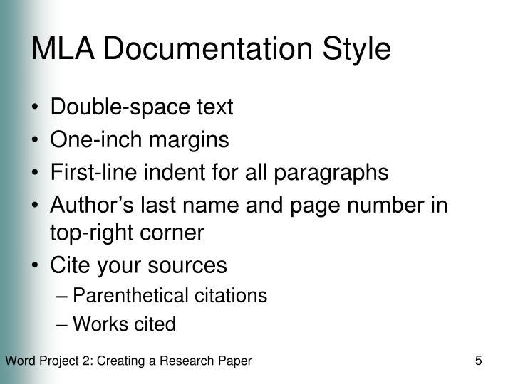 MLA Documentation Style