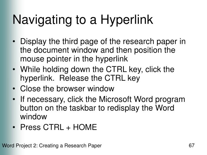 Navigating to a Hyperlink