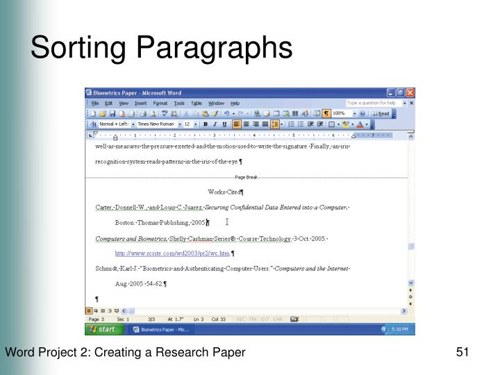 Sorting Paragraphs