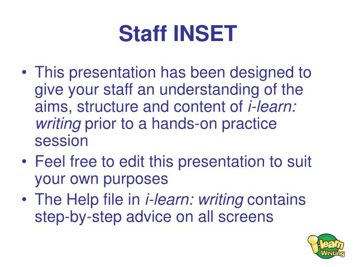 Staff INSET