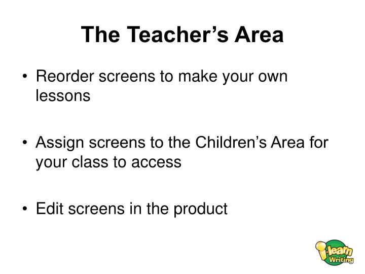 The Teacher's Area