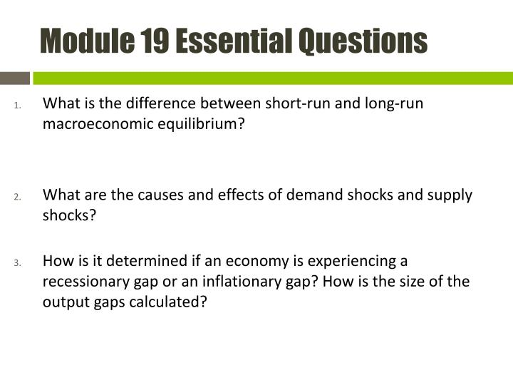 Module 19 Essential Questions