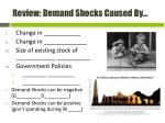review demand shocks caused by