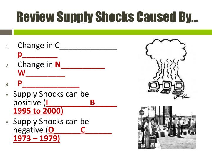 Review Supply Shocks Caused By…