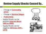 review supply shocks caused by1